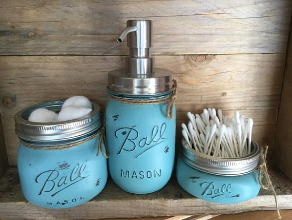Add some unique charm to your bathroom decor with this French Teal