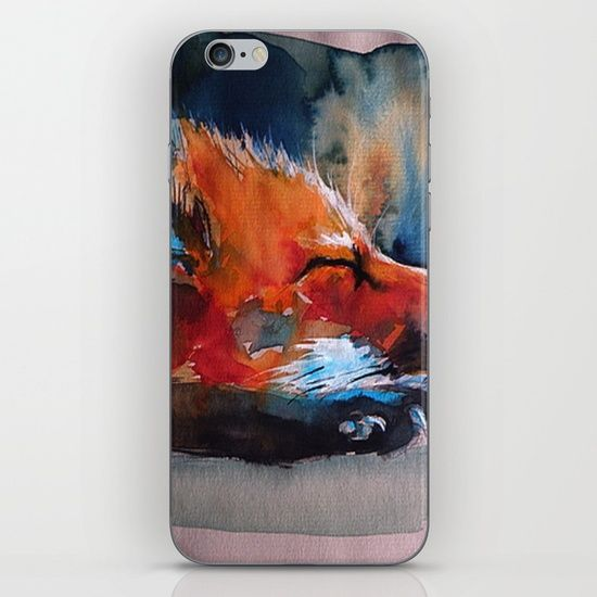 Sleeping Fox iPhone & iPod Skin by THARUNSUBBIAH. Worldwide shipping available at Society6.com. Just one of millions of high quality products available.