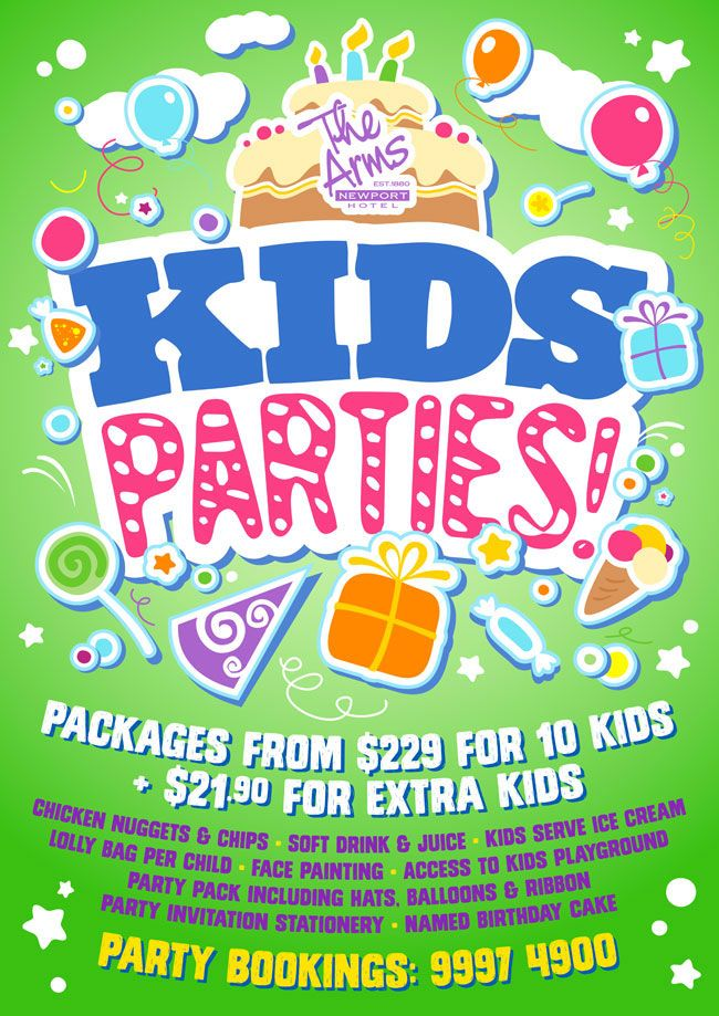 Party Planningf Flyer For Kids Kids Birthday Parties