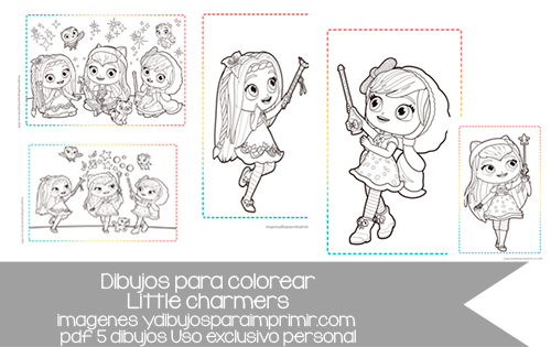 Colorear La Pequenas Hechiceras De Little Charmers En Laminas Tamano A4 Little Charmers Art Charmer
