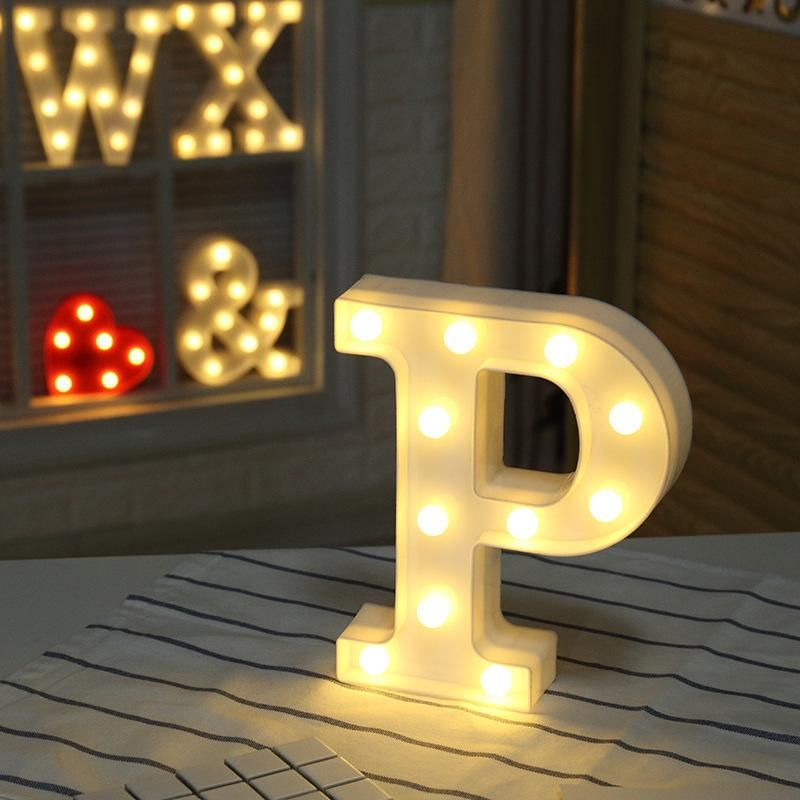 Warm Light Letters Diy Led Alphabets A Z Heart Symbol Plastic Led Lights Led Lights Wedding Light Letters Diy Light Letters