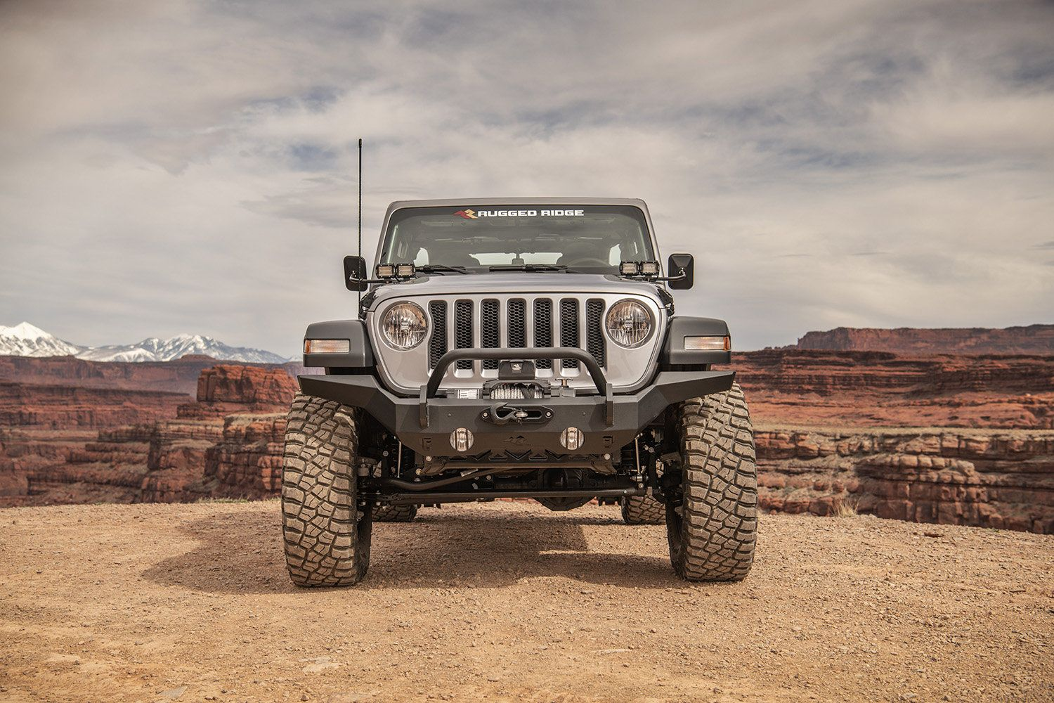 Rugged Ridge 11540 31 Hd Full Width Front Bumper For 07 20 Jeep