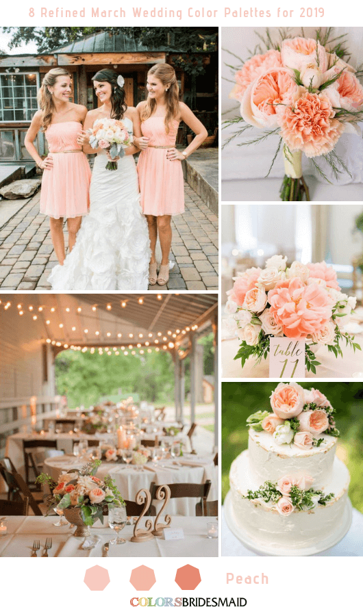 8 Refined March Wedding Color Palettes for 2019