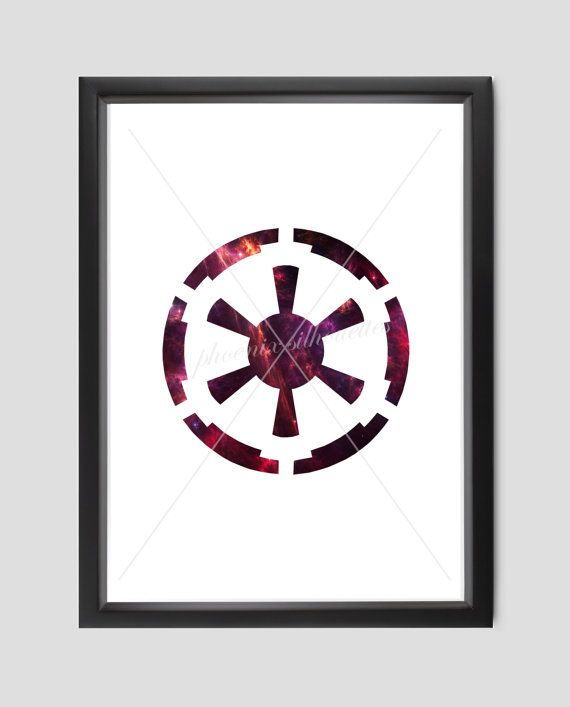 Star Wars Galactic Empire Sith Symbol Poster By Phoenixsilhouettes