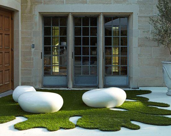 Modern outdoor patio garden of anything kunstrasen