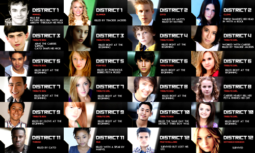 Tributes From District 1 12 The Hunger Games Hunger Games