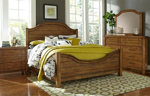 Broyhill Furniture   Bethany Square Brown 9 Piece Queen Panel Bedroom Set    BRO 4930
