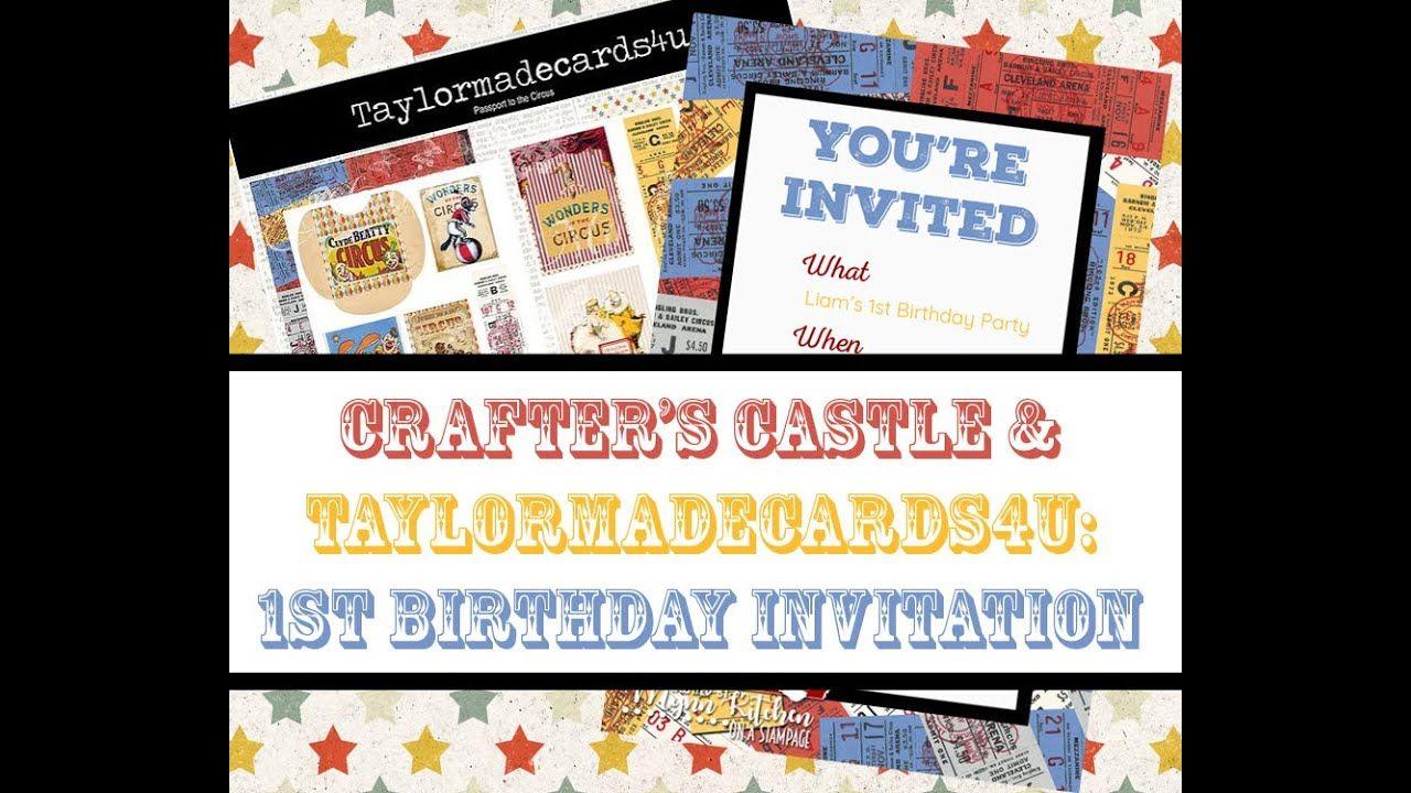 Crafter's Castle & Taylormadecards4u A Digital Invitation