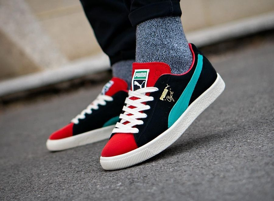 229c49729ff5 Puma Clyde 'From The Archive' Black High Risk Red | Placard ...