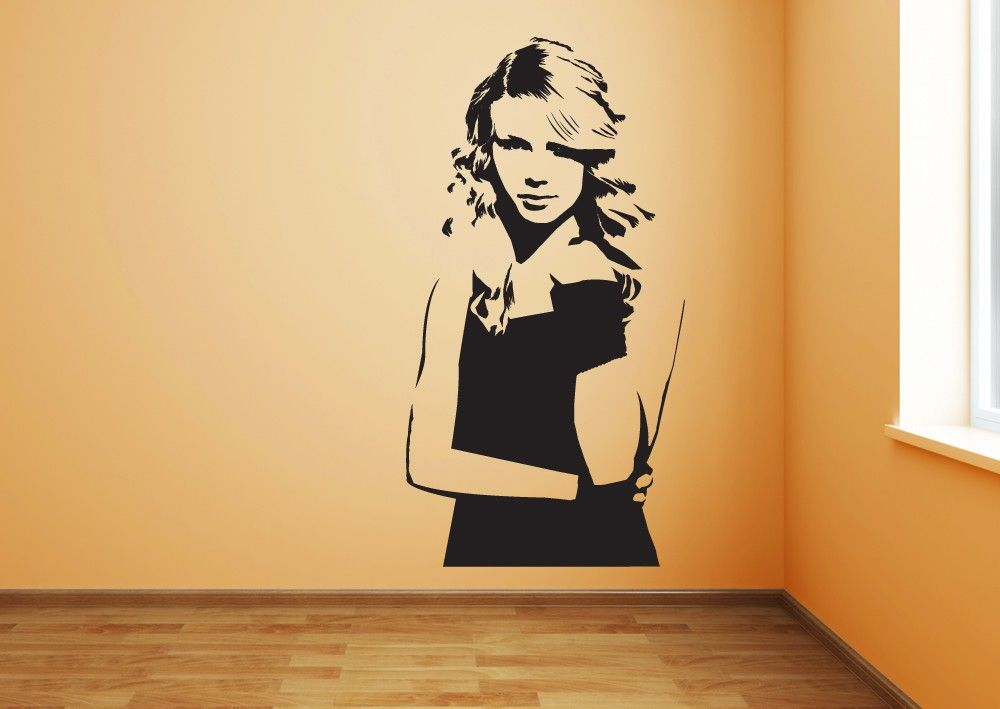 This Taylor Swift vinyl wall decal will add some girl power to your ...