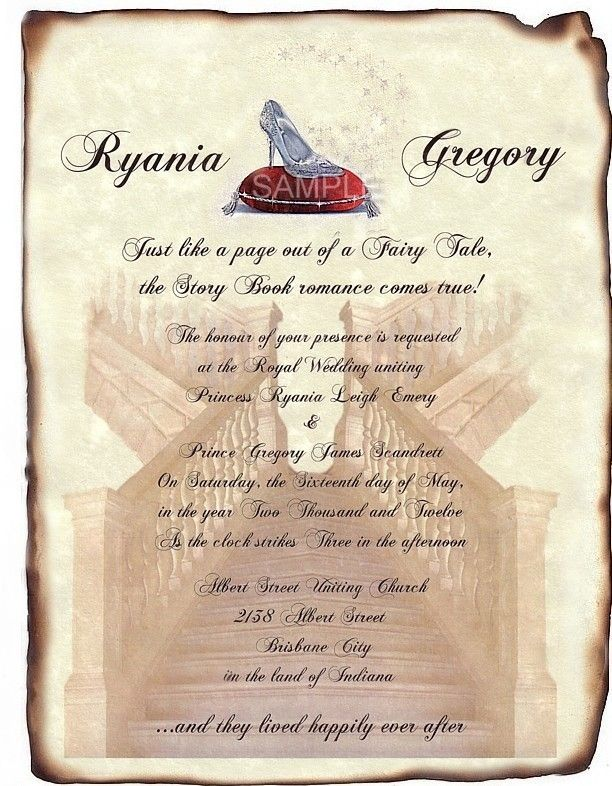 invitation Party Invitations Pinterest Fairytale wedding