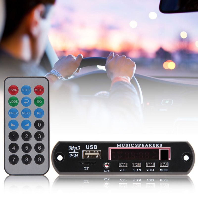 12 V Auto Musik MP3 WMA Decoder Board mit fernbedienung Audio Decoder Board Modul USB TF FM Radio auto elektronik auto styling