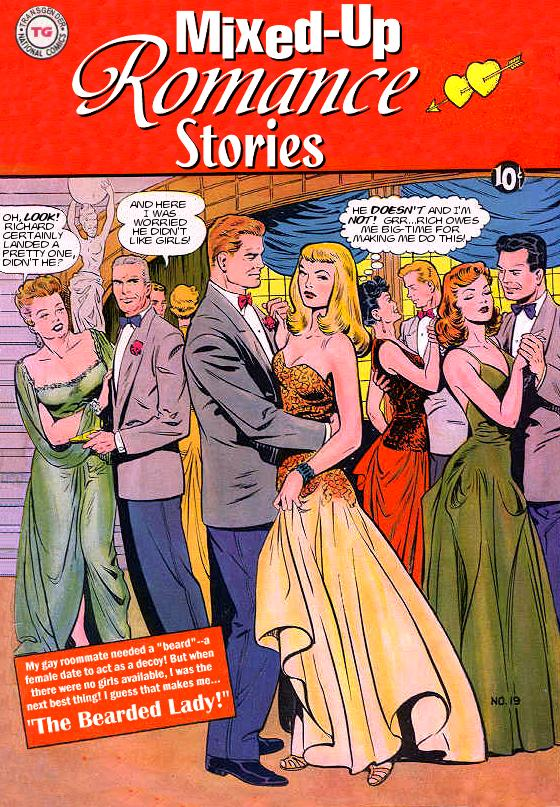 Agree, transvestite comic books think
