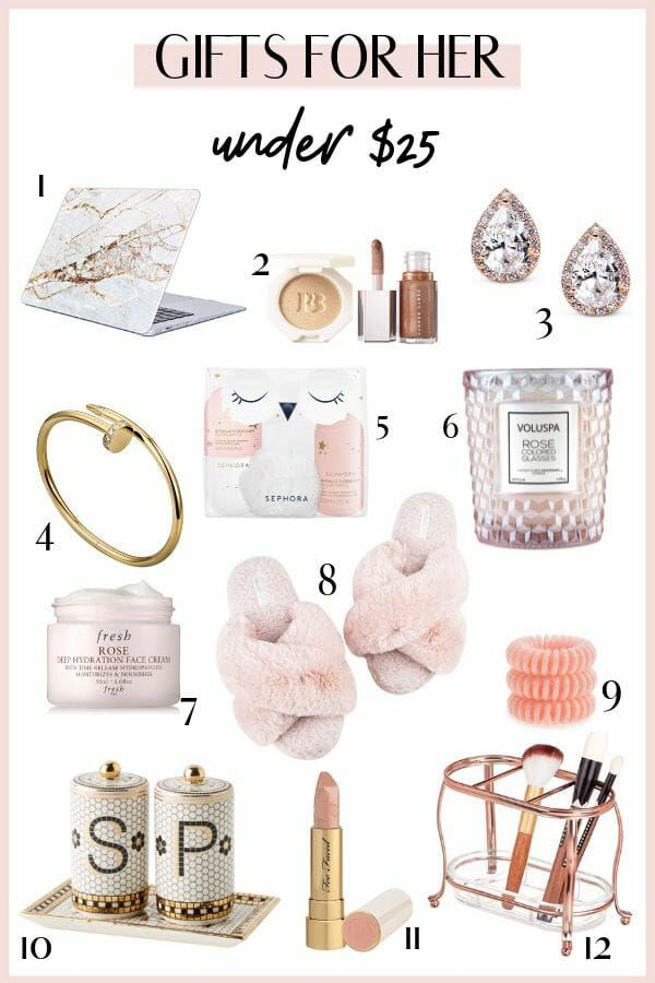 The Best Gifts For Her Under $25 | The Chic Pursuit #giftsforsister