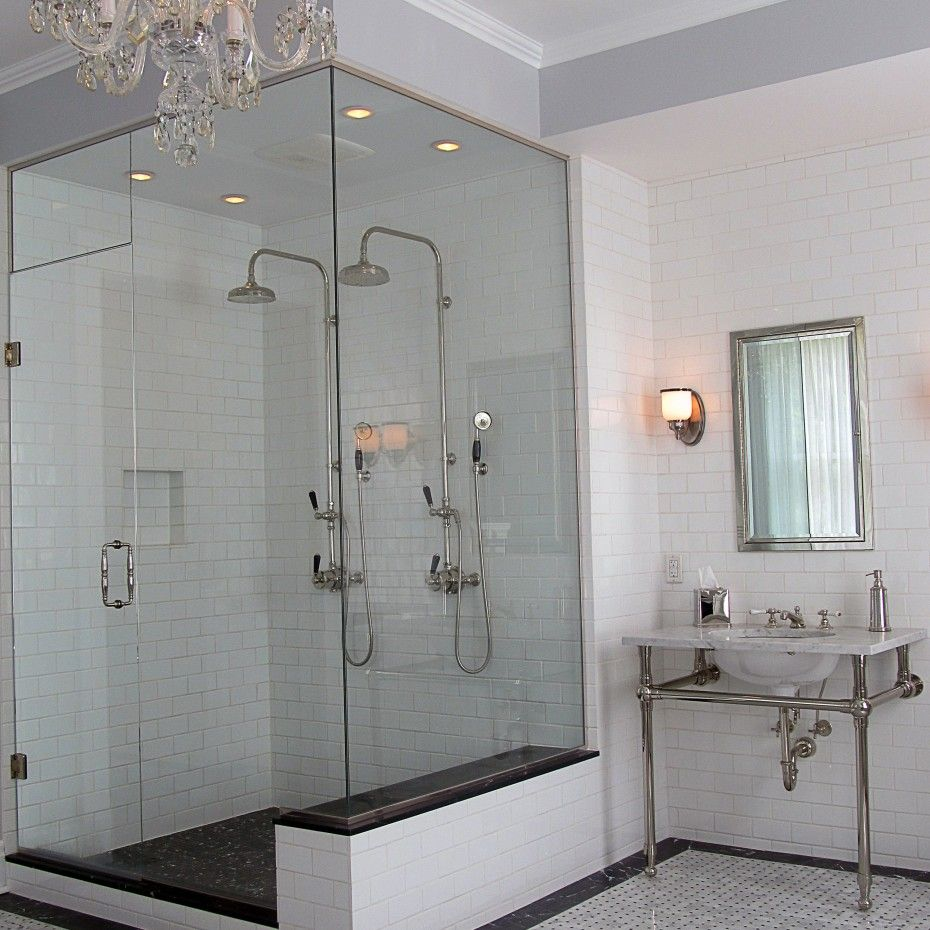 Cool Double Shower Design Assorted Styles And Appliances: Fantastic Chrome  Varnished Head
