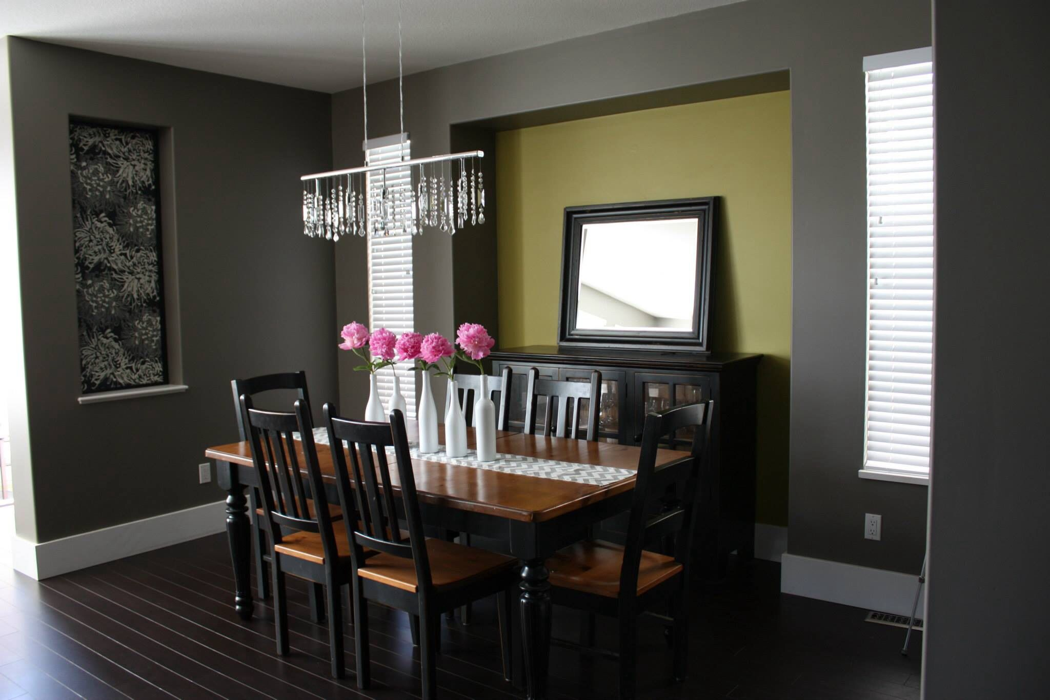 "Our Dining Room Benjamin Moore ""Metropolis"" on walls Benjamin"