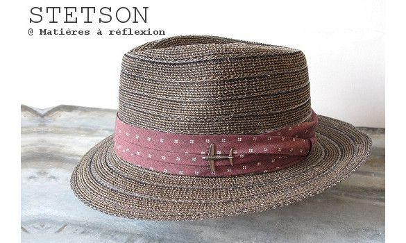 Stetson chapeau femme Maywood toyo #stetson #chapeau #hat #paille #toyo #ruban #liedevin #rouge #red #taupe #avion #plane #maywood  #fashion #ss15