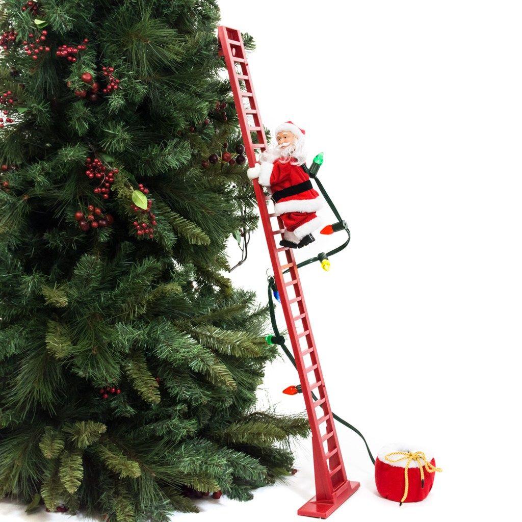 Super climbing santa tree decor collections holidays elegant