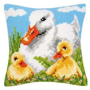 Набор для вышивания подушки Vervaco Утка и малыши PN ...