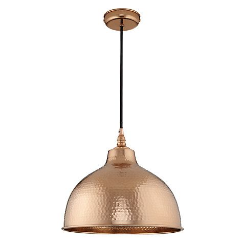 Buy John Lewis Bolu Pendant Shade Copper Online at johnlewis.com  sc 1 st  Pinterest & John Lewis Bolu Pendant Shade Copper | John lewis Lights and Kitchens