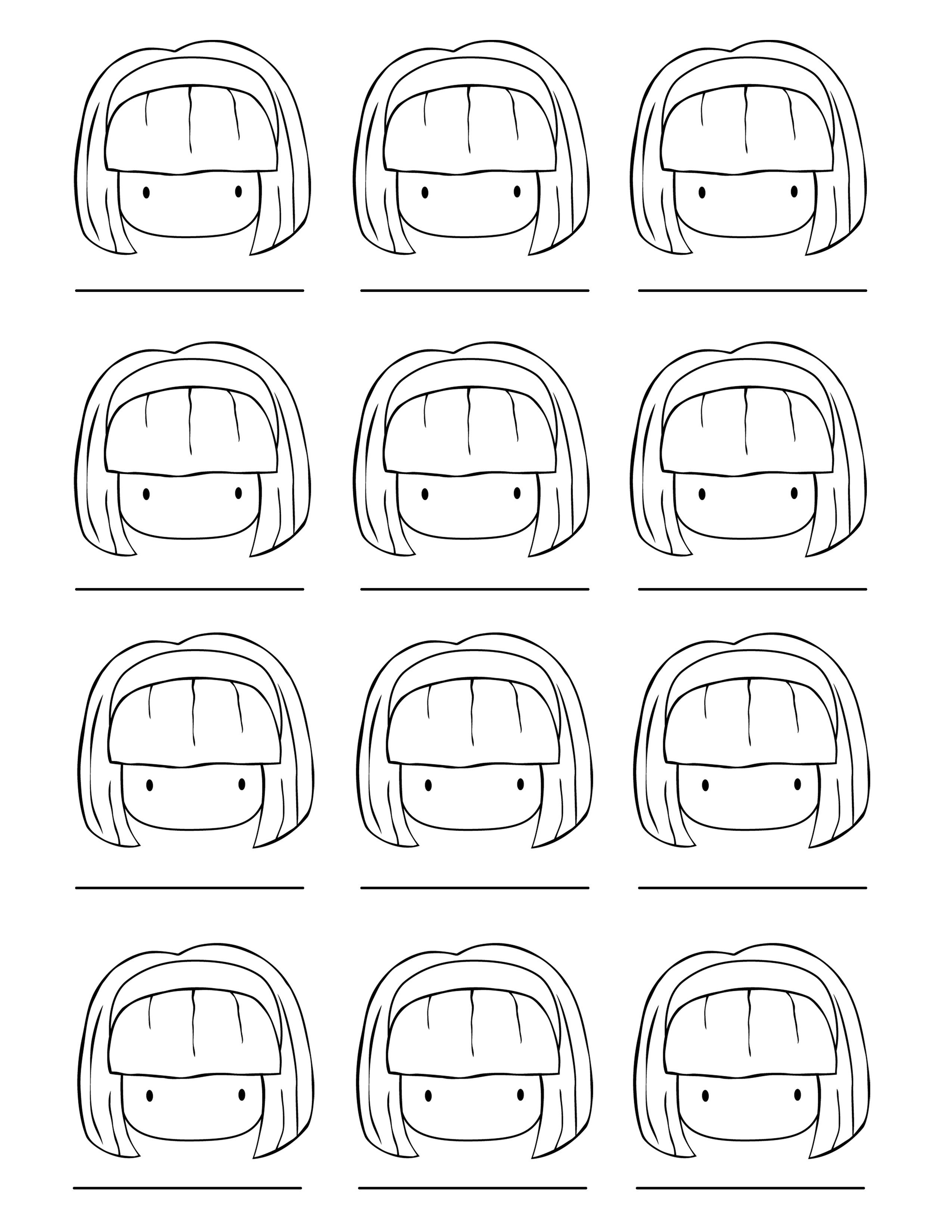 Practice sheet for skin and hair (girl) | scrapbooking | Pinterest ...