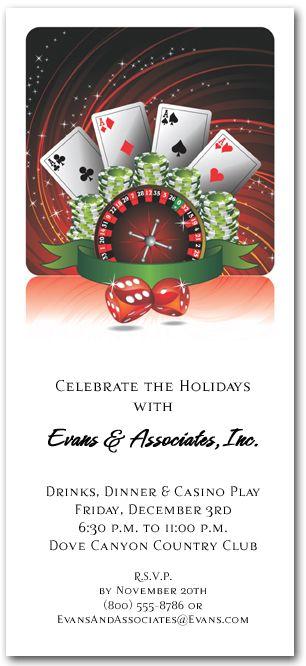Casino Play Christmas invitations, Holiday party invitations and - free xmas invitations