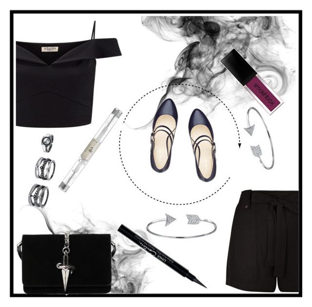 """""""Smoke"""" by princess-lana ❤ liked on Polyvore featuring Nine West, New Look, Lipsy, Cesare Paciotti, Smashbox, Givenchy, LULUS and Bling Jewelry"""