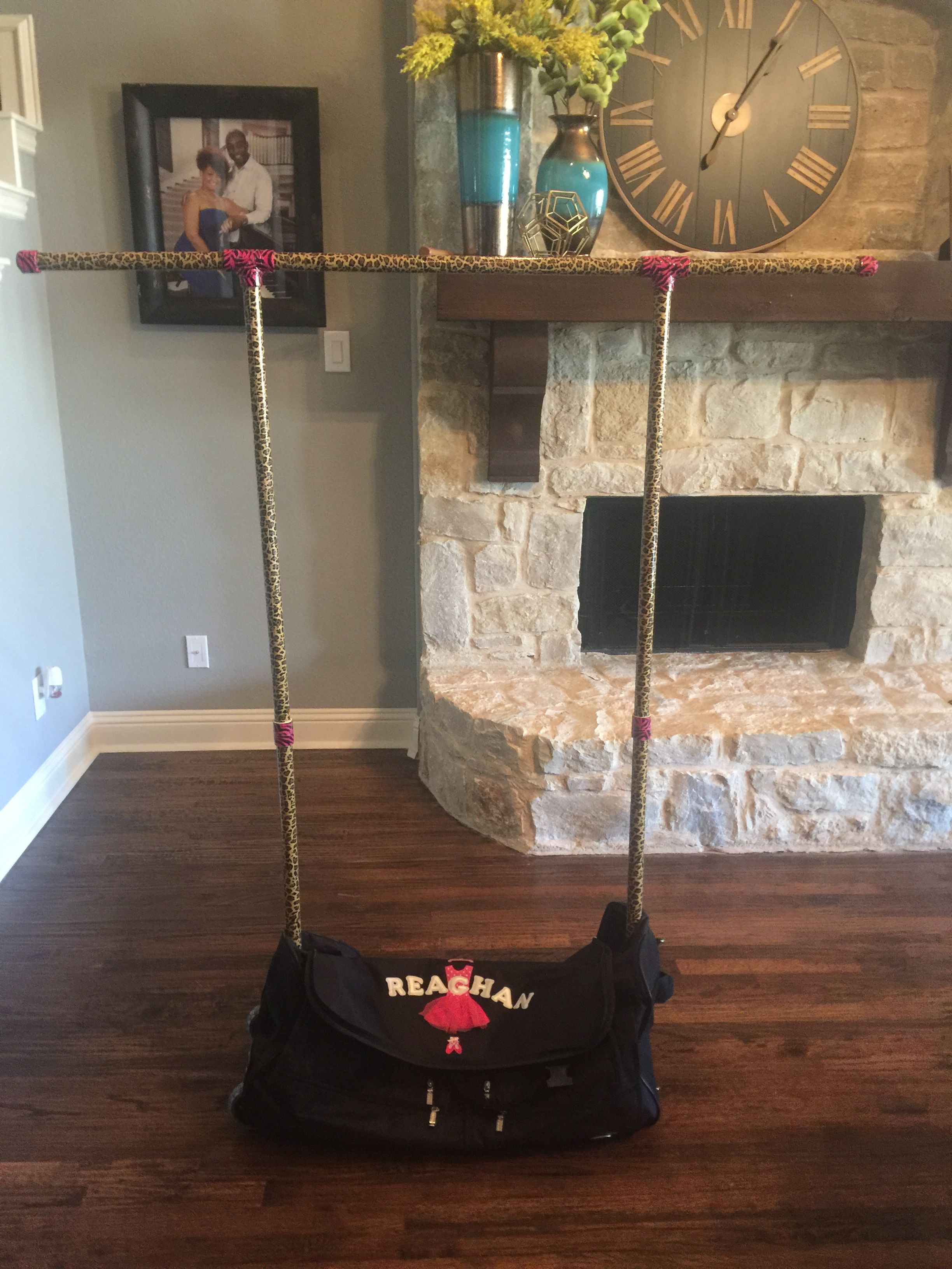 My Take On The Diy Dance Competition Bag With Garment Rack