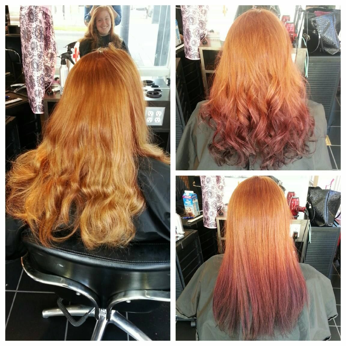 Redhead Reverse Ombre Red Hair Fade Thick Hair Styles Red