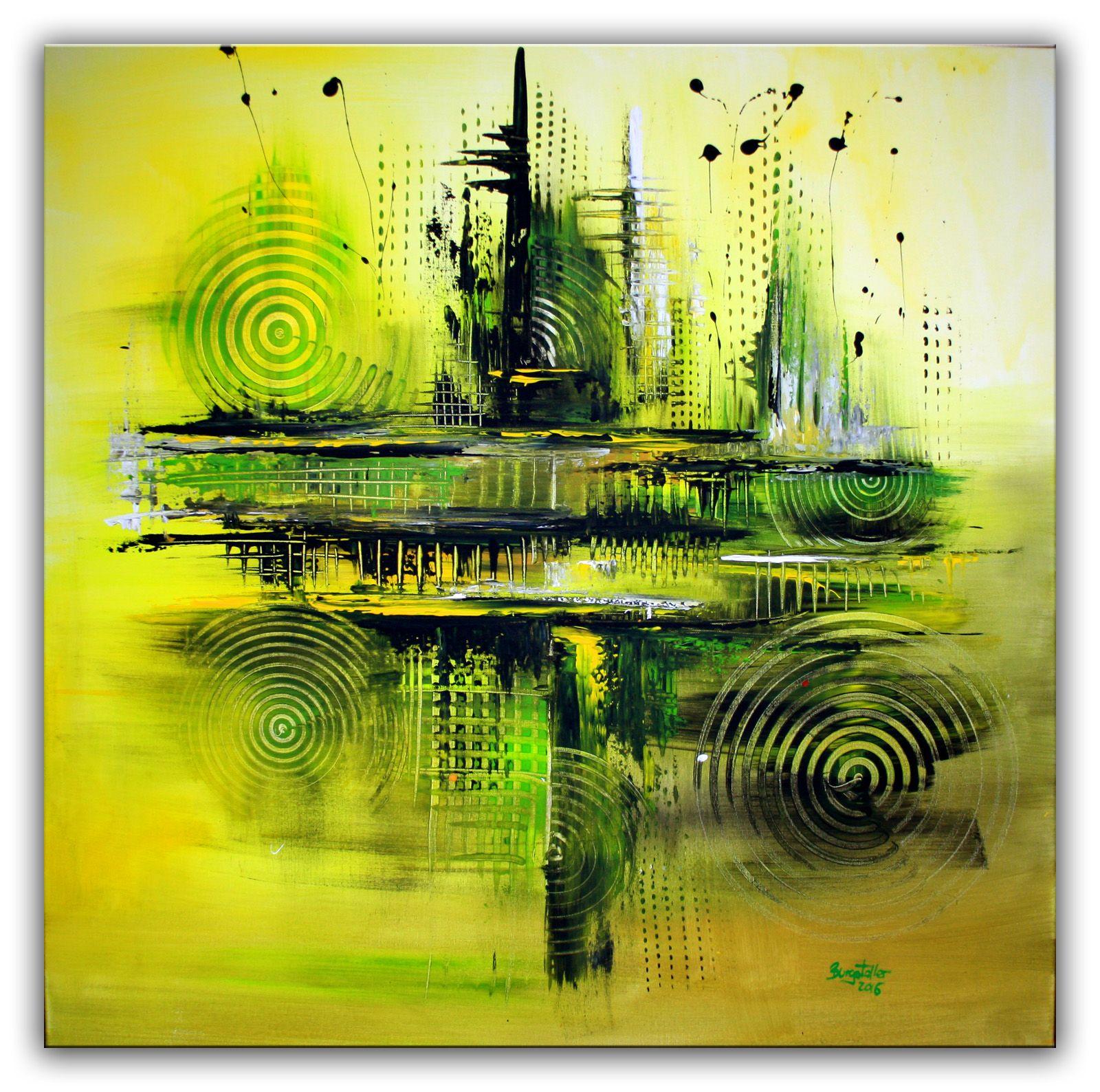 Abstrakte wandbilder vom k nstler original bilder - Gemalte wandbilder ...