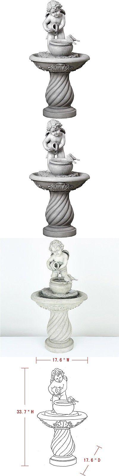 Indoor Fountains 20569: Cherub Fountain Home Décor Indoor Outdoor ...