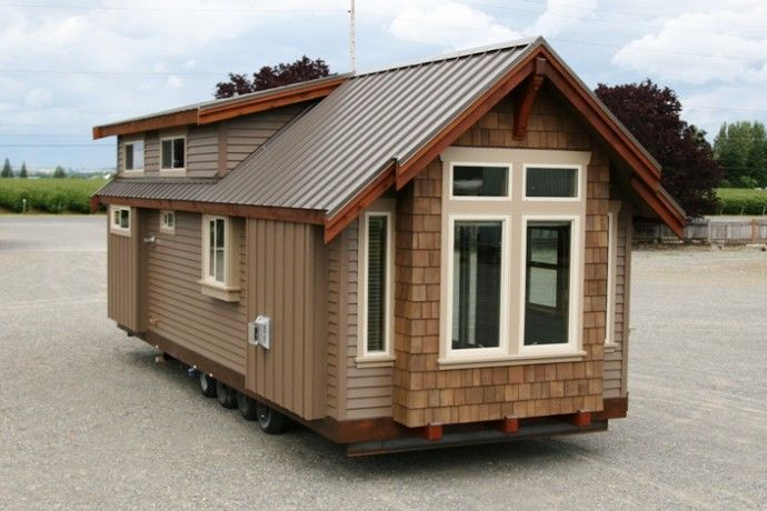 Interesting exterior for standard 12 mobile home width