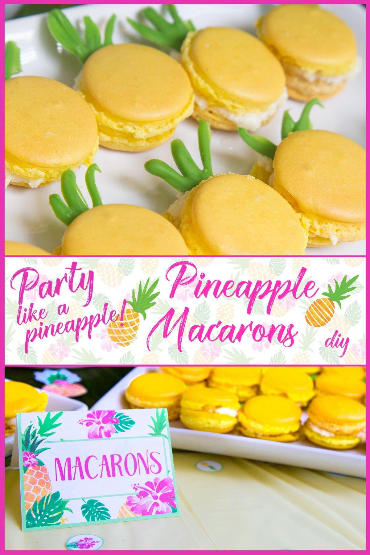 How to Make Pineapple Macarons | Aloha Hawaii | Luau food