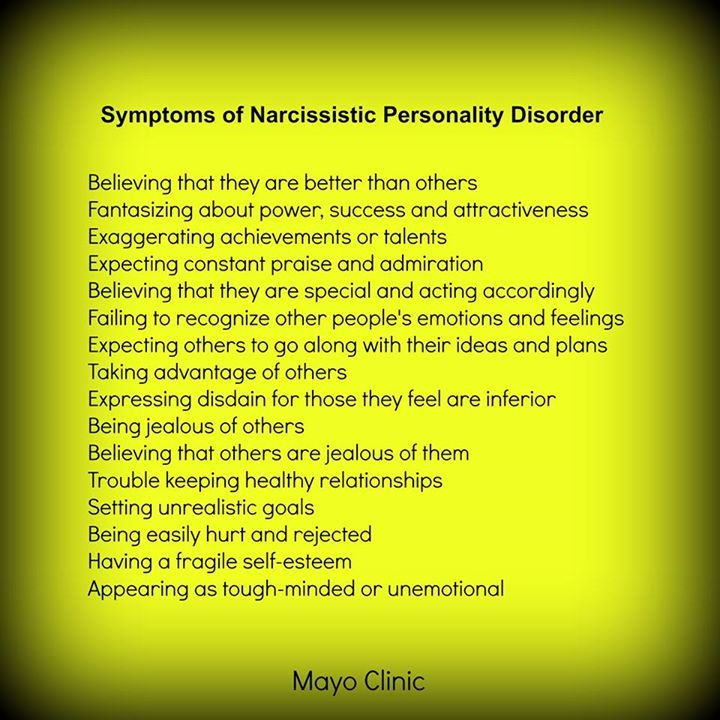 Narcissistic personality disorder traits mother