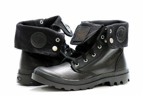 Palladium Men's Boots Baggy Leather Black Fashion Shoes (10