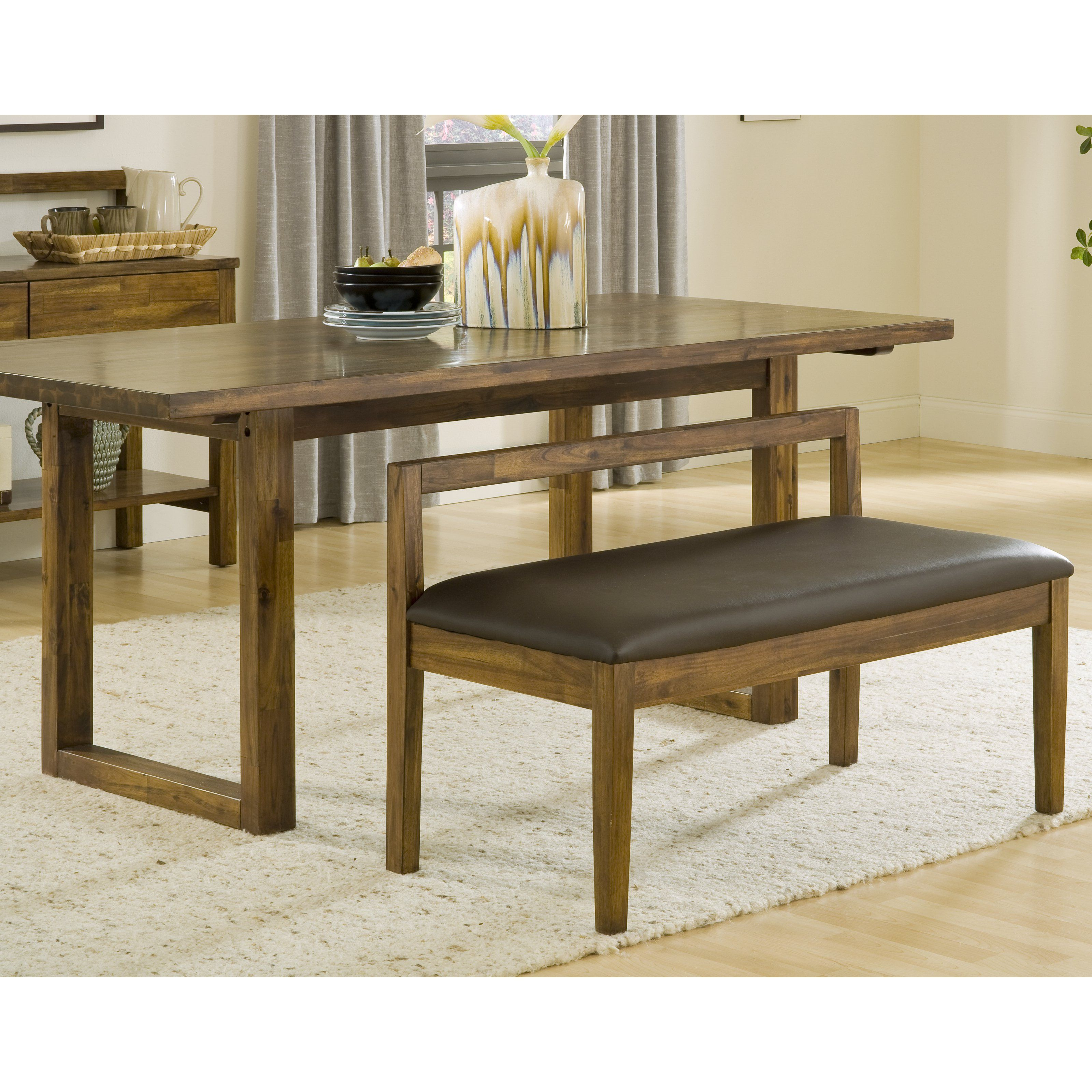 Cool Modus Alba Solid Wood Dining Bench With Recycled Leather Dailytribune Chair Design For Home Dailytribuneorg