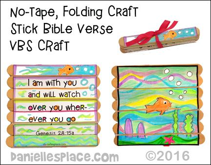 No Tape Folding Craft Stick Bible Verse Activity For