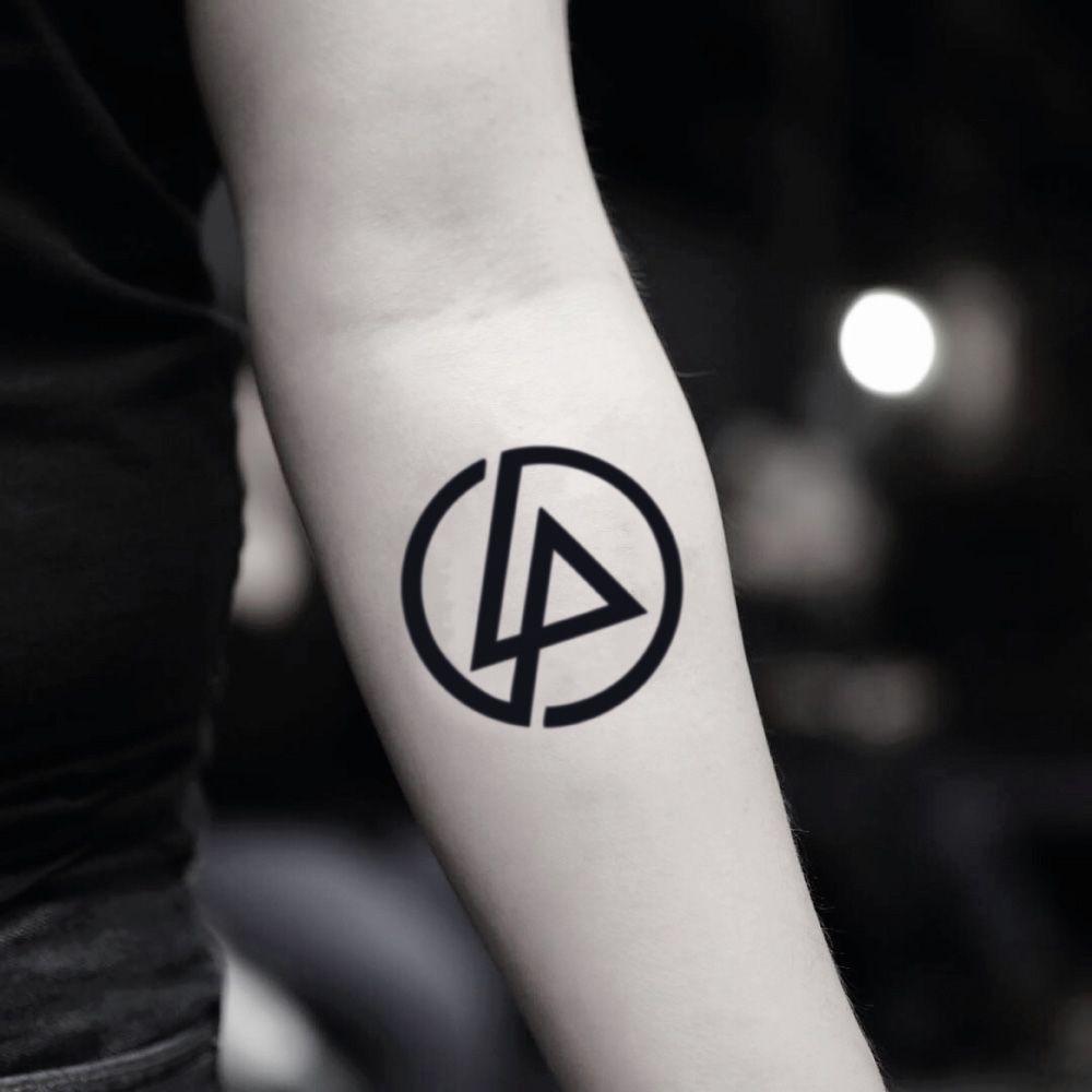 Linkin Park Temporary Tattoo Music Singer Band Logo Tattoo