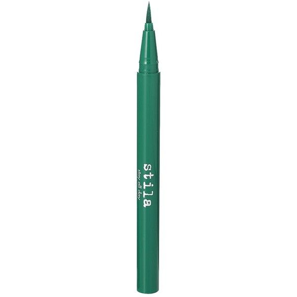 Stila Stay-All-Day Waterproof Liquid Eyeliner - Colour Emerald (60 BRL) ❤ liked on Polyvore featuring beauty products, makeup, eye makeup, eyeliner, stila eyeliner, liquid eye liner, liquid eye-liner, stila and stila eye liner
