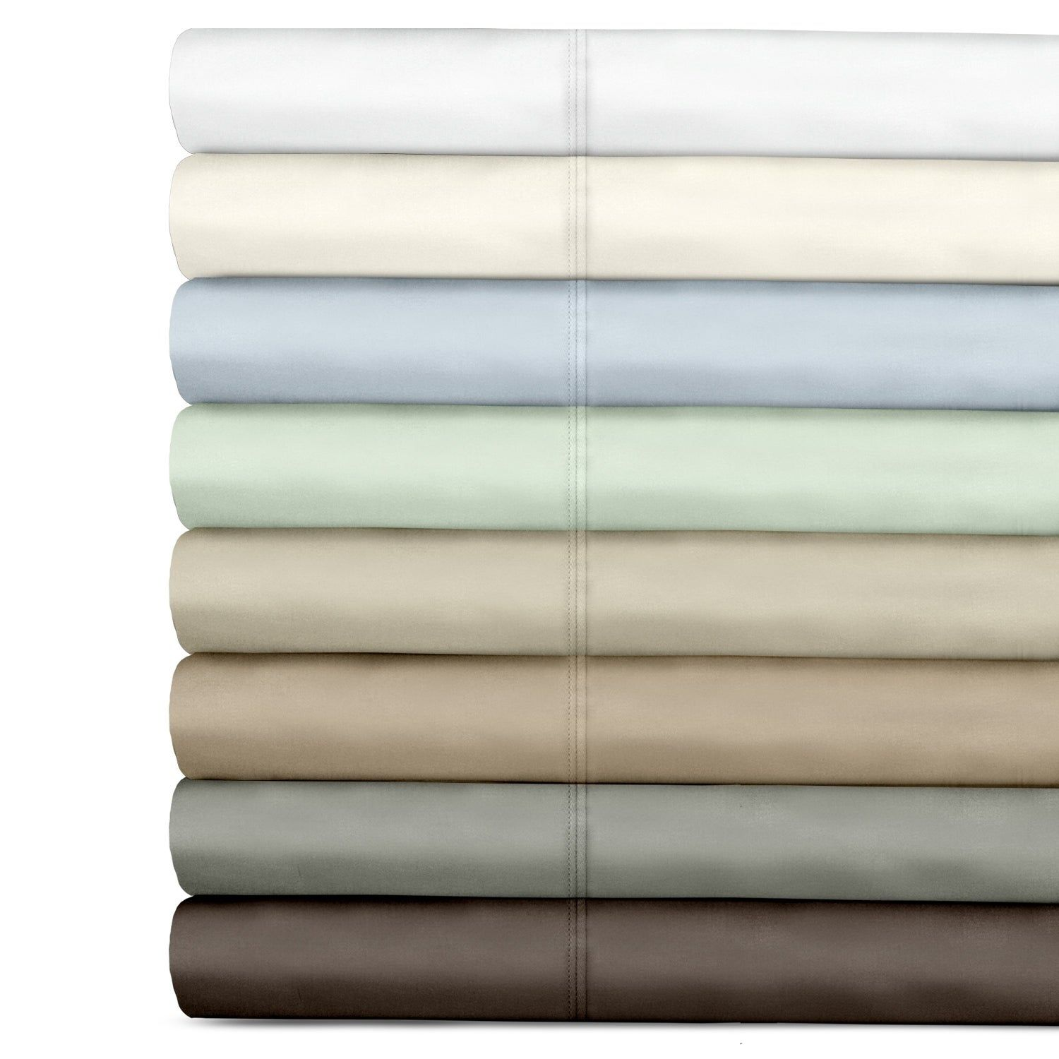 Veratex Cotton 500 Thread Count Sateen Solid Twin Size
