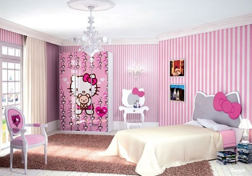 Habitacion infantil ni a hello kitty decoraci n dormitorios infantiles pinterest - Habitacion infantil nina ...
