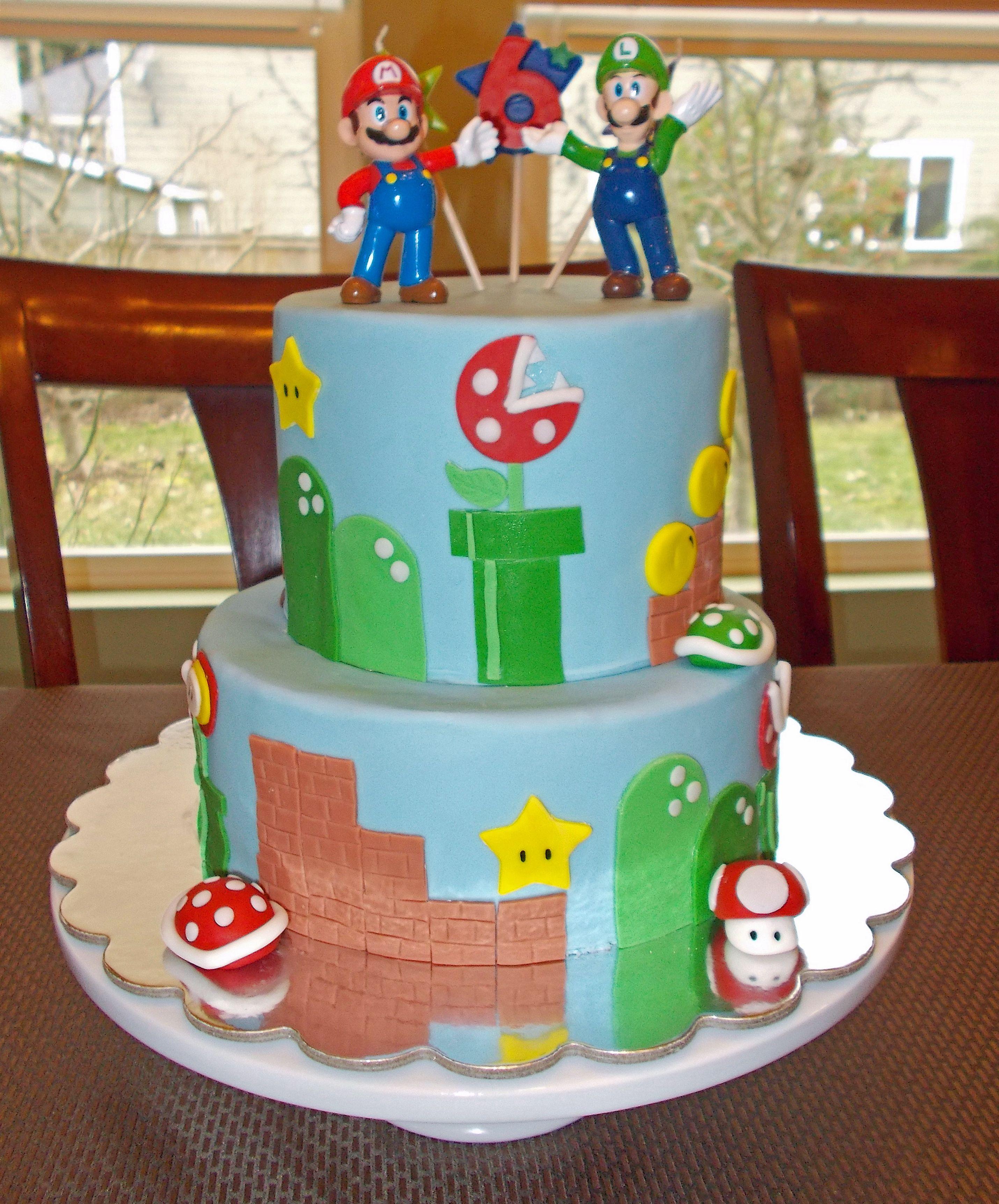 super mario birthday cake decorations