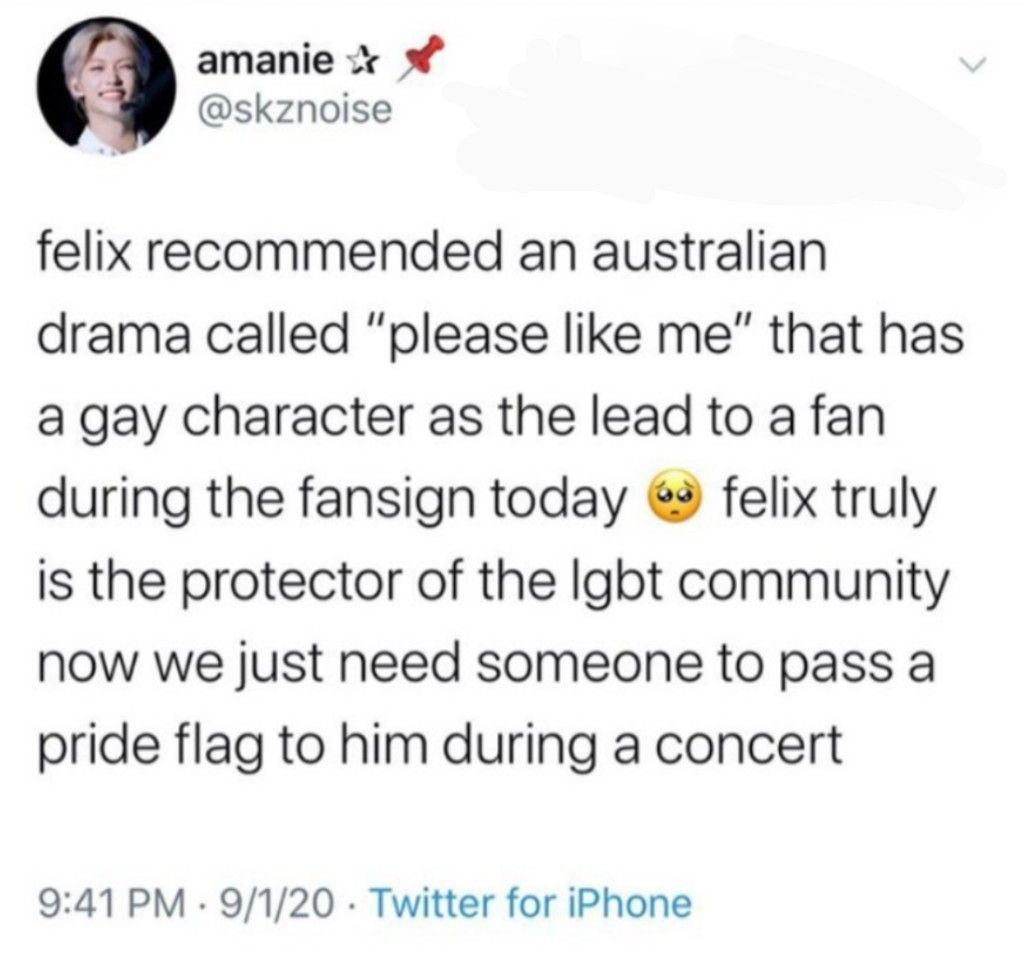 I Wouldn T Recommend Doing That In A Concert Becoz There Are Rules And Such That Are Most Probably In His Contract Felix Stray Kids Kid Memes Funny Kpop Memes