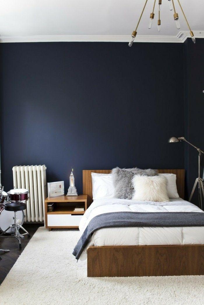 schlafzimmer ideen weißer teppich blaue wände Schlafzimmer Ideen - bilder für schlafzimmer