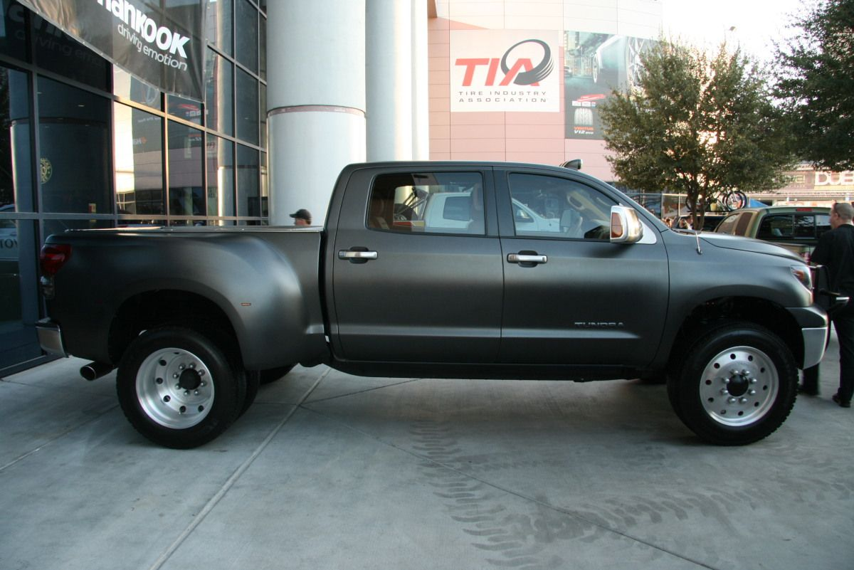TOYOTA TUNDRA DUALLY   tweet add to collections matte grey ...