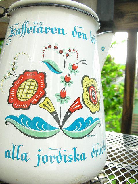 Thrifted Swedish Coffee Pot Swedish Swedish Traditions Swedish Girls