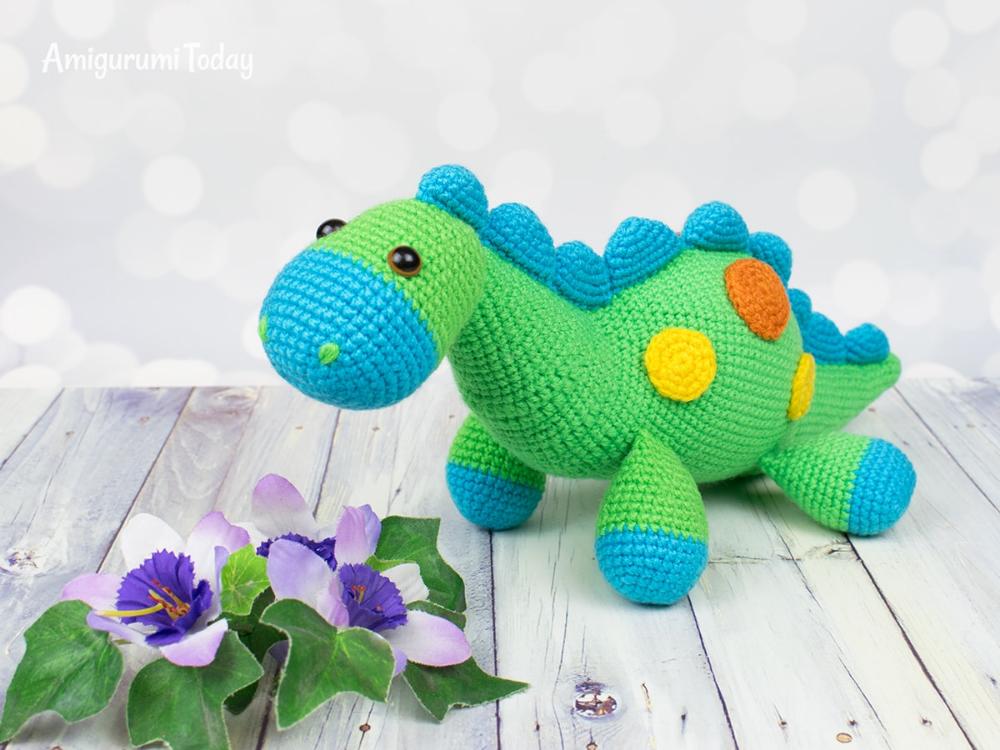 Amigurumi dinosaur crochet pattern #crochetdinosaurpatterns