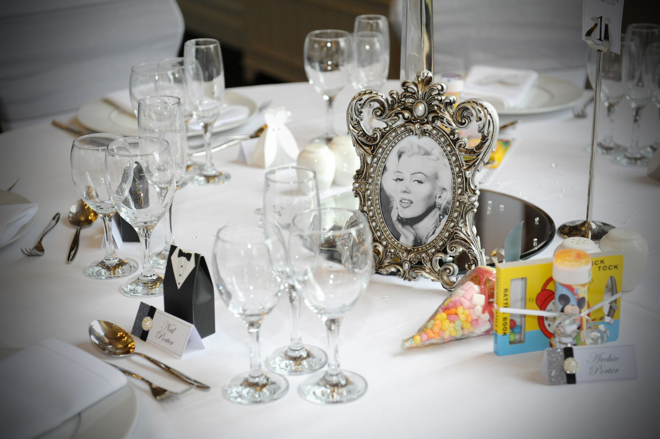 Classic movie glamour at this vintage themed wedding using a silver ...