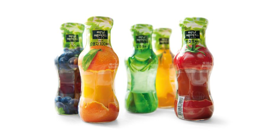 minute maid premium mini bottle packaging design