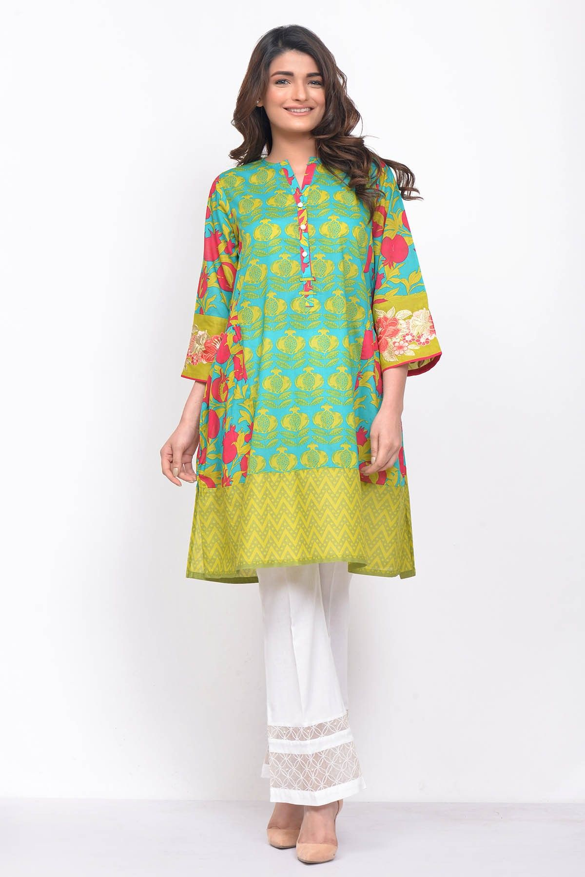 tops Pakistani women kurti shirts printed 100/% original khaadi kurta lawm